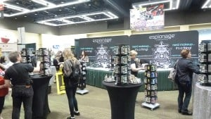 Espionage Cosmetics booth at ECCC 2016